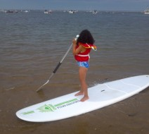 Children paddle boarding Truro