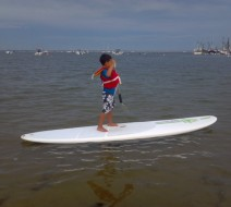 Children paddle boarding Provincetown