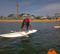 SUP yoga in Cape Cod