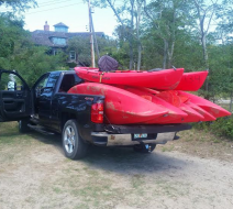 Kayak delivery on Cape Cod