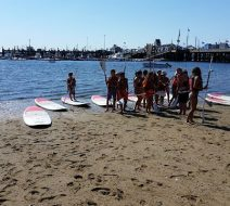 Group paddleboarding