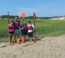 Summertime kayaking in Provincetown