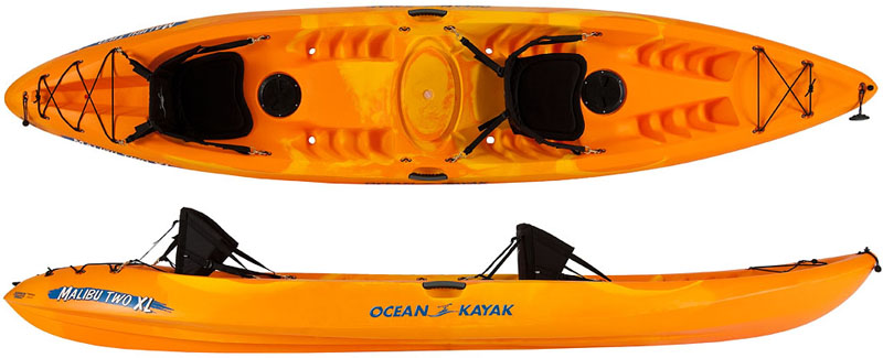 Ocean Kayak Malibu Two XL This Rental Offers Stability And Versatility Featuring A Adjustable Comfort Back Seat Fits Adults Plus Small Child
