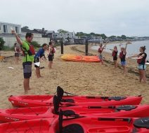 Paddle board yoga in Provincetown
